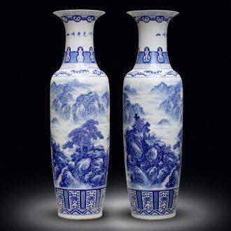 Jingdezhen ceramic floor big vase hand - made porcelain sitting room adornment large porcelain bottle furnishing articles hotel opening