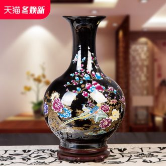 Jingdezhen ceramic vase landing large sitting room ark, new Chinese style household flower arranging the trap porch place ornament