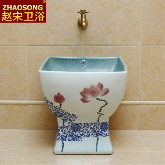 New Chinese style household ceramics restoring ancient ways one square mop mop pool pool pool slot balcony large mop basin to wash cloth