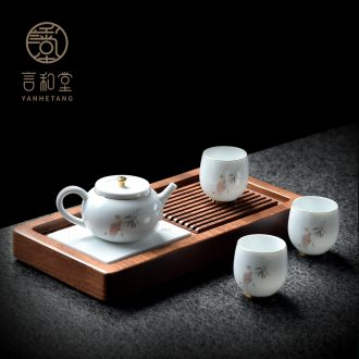 Japanese kung fu tea set # and contracted ceramic teapot teacup suits for home office tea tray was small gift boxes