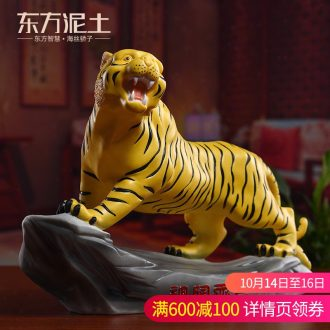 Oriental clay ceramic tiger furnishing articles sitting room decorate household act the role ofing is tasted the desktop/14 inches lam world. Perhaps a - 114