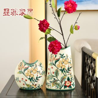 Murphy, American country ceramic hydroponic flower vases, new Chinese style living room simulation flowers, flower arranging, adornment is placed