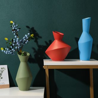 Morandi ceramic vases, flower arranging the modern soft outfit creative furnishing articles the sitting room porch example room flower decoration