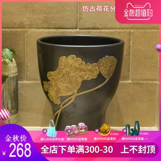 Koh larn, qi ceramic art basin mop mop pool ChiFangYuan one-piece mop pool size 35 cm style