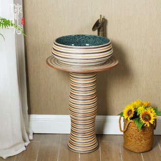 M the one-piece pillar basin floor type restoring ancient ways ceramic basin vertical sink basin of pillar type lavatory