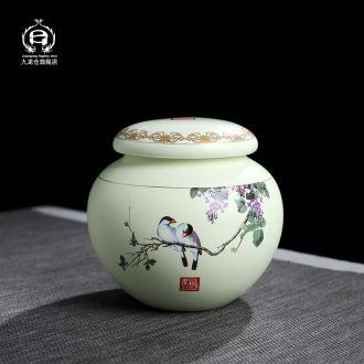 DH caddy fixings jingdezhen ceramic seal tank storage tank tea pot large green POTS, POTS