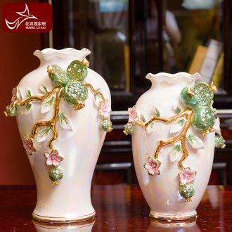 European high-end vase suit creative home furnishing articles of the sitting room TV ark wine ceramic decoration accessories personality