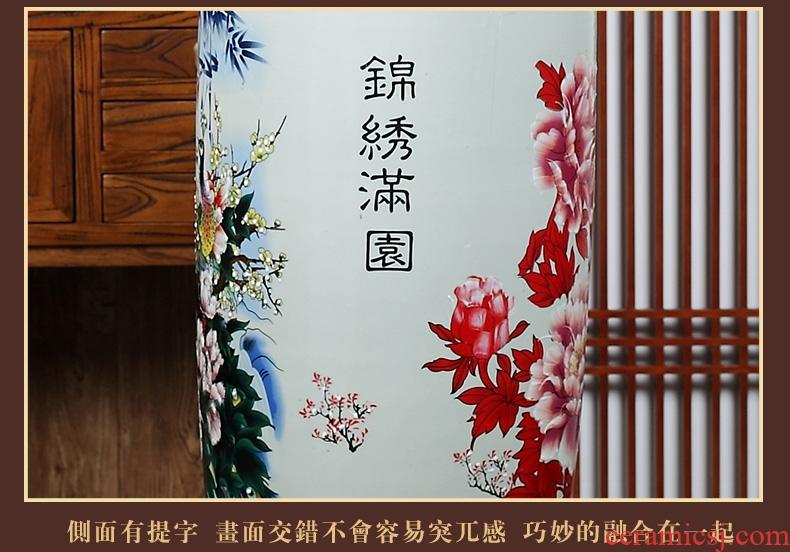 Jingdezhen ceramic of large blue and white porcelain vase, flower arrangement of Chinese style living room office decoration furnishing articles hotel - 584994406542