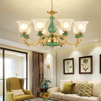 All copper pendant contracted modern European - style villa ceramic restaurant bedroom atmosphere sitting room lamps and lanterns lighting web celebrity
