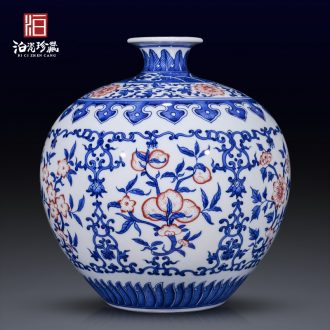 Jingdezhen ceramics table dry flower vase planting Chinese I sitting room porch bedroom home furnishing articles