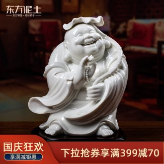 Oriental dehua white porcelain clay ceramic furnishing articles home sitting room adornment handicraft/harmony D15-06