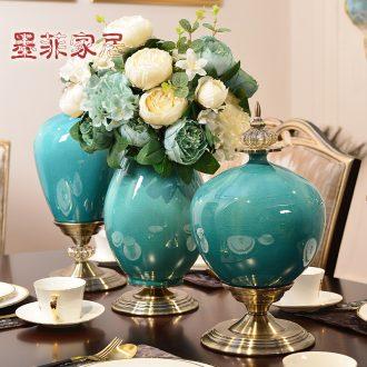 Murphy's European creative ceramic vase simulation flower dried flowers flower arrangement sitting room dining-room place home decoration
