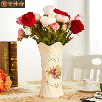 European ceramic vases, flower arranging lucky bamboo vase TV cabinet table in the sitting room porch ark, partition decoration furnishing articles