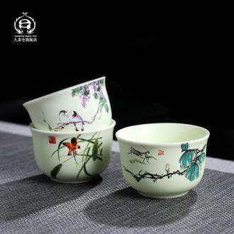 DH masters cup single cup of jingdezhen ceramic kung fu tea set sample tea cup tea cups individual small cups