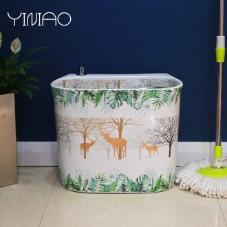 The balcony mop pool ceramic mop pool large mop pool of home use mop pool toilet basin to wash The mop