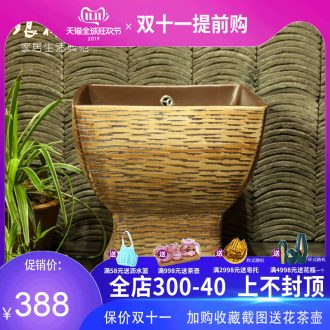 Indoor and is suing ceramic art basin mop mop pool ChiFangYuan one - piece mop pool 42 cm diameter