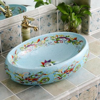 The stage basin oval I and contracted grain ceramic art basin European household toilet toilet wash basin