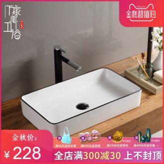 The stage basin sink lavatory basin that wash a face wash gargle square ceramic art household birdbath toilet trumpet