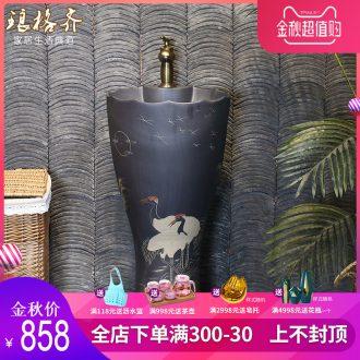 Post, neat sculpture ceramic pillar lavabo balcony sinks one floor type restoring ancient ways courtyard pillar basin