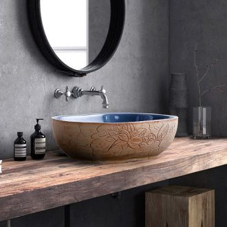 Chinese style restoring ancient ways is the creative stage basin ceramic oval face basin bathroom home outfit toilet toilet lavabo of art