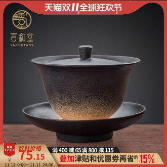 And hall three tureen Japanese kunfu tea bowl with a single tea cups only large hot tea ceramics