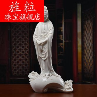 Bm ceramics decoration furnishing articles works manually signed the twist bead guanyin Su Xianzhong masters D30-06