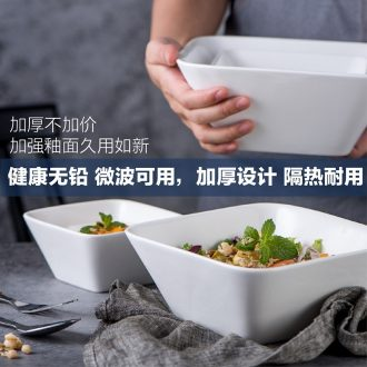 Square bowl sifang creative dessert bowl of white ceramic bowl with large square bowl of sugar water bowls