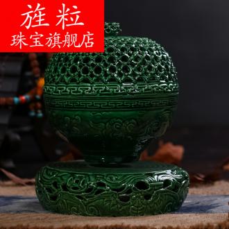 Continuous large grain of jingdezhen ceramics smoked censer sink the present household dish lie sandalwood aloes incense buner