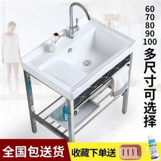 Sink tank with washboard bracket slot 60/70 cm80 basin basin laundry ceramic simple single slot pool balcony