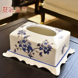 Murphy's new Chinese style ceramic paper towel box of American rural household adornment bedroom living room table smoke box furnishing articles