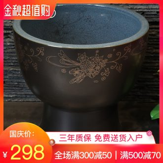 Million birds wash mop pool bathroom balcony ground ceramic POTS mop pool large round kitchen sink mop pool