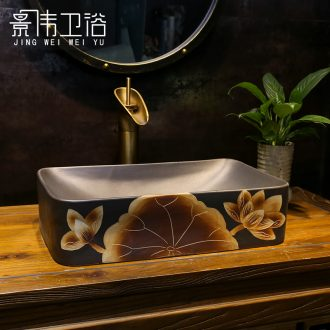 The stage basin sink bathroom balcony restoring ancient ways The lavatory bronze art ceramics lotus basin that wash a face in The household