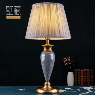American contemporary and contracted pure color lamp decoration ceramics art designers all copper lamps and lanterns of the sitting room the bedroom of the head of a bed