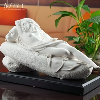 Oriental soil Chinese ceramic sitting room study beauty characters furnishing articles dehua white porcelain its handicraft