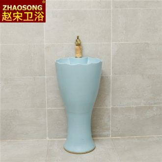 Song zhao Nordic industrial ceramic pillar lavabo toilet wind household tuba basin type lavatory