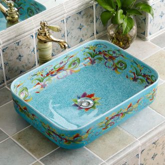 On the sink basin square ceramic art basin washing a face, I and contracted Europe type of household toilet toilet