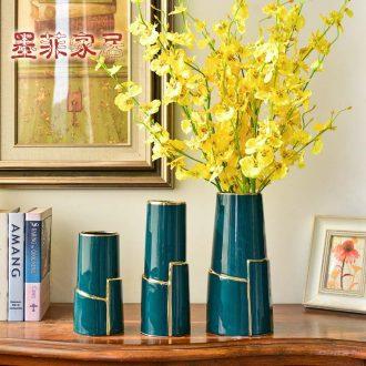 Light murphy european-style luxury creative ceramic vase hydroponic contemporary sitting room adornment simulation flower art flower arranging, furnishing articles