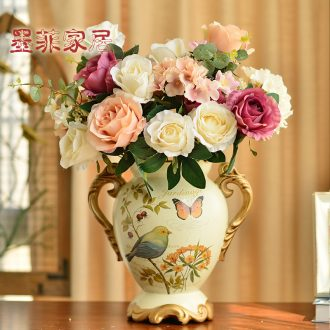 Murphy European rural ears big ceramic vase floral restoring ancient ways suit American creative sitting room place flower arrangement