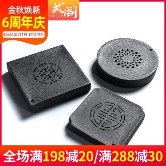 Beauty cabinet black pottery teapot ceramic water tray tea accessories round pot bearing coarse pottery tea tea tea tray it dry