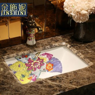 Undercounter embedded sinks ceramic square sink basin to wash toilet lavabo, the basin that wash a face