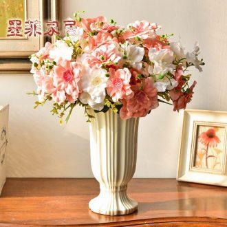 Murphy Jane European modern ceramic white vase living room table household adornment furnishing articles simulation flower art flower arranging