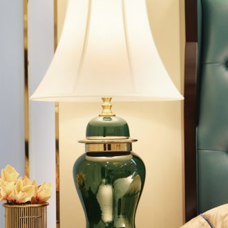 Large American light key-2 luxury copper lamp decoration ceramics art design all I and contracted sitting room sitting room porch town house
