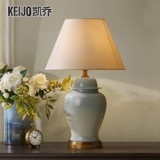 Catron had American ceramic desk lamp of the big lamp contracted sitting room adornment lamp American country bedroom berth lamp of lamps and lanterns