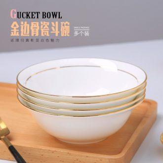 European ipads bowls with jingdezhen ceramic bowl large soup bowl bowl of soup bowl Jin Biandou always rainbow such as bowl suit
