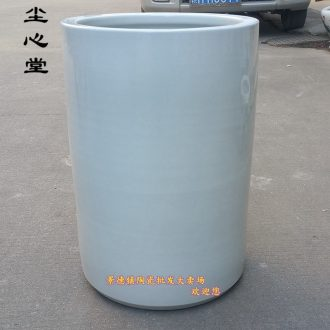 Dust heart of jingdezhen ceramic calligraphy and painting barrel pure white large vase scroll painting and calligraphy cylinder cylinder barrels umbrella quiver
