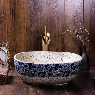 Ceramic sink square archaize industrial creative home household toilet stage basin, art basin washing a face plate