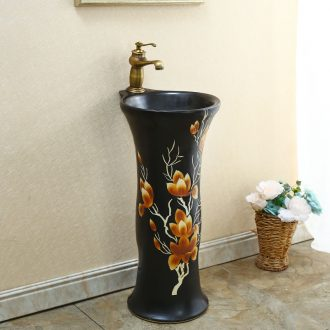 Basin of pillar type lavatory art pillar ceramic toilet balcony floor toilet lavabo pond