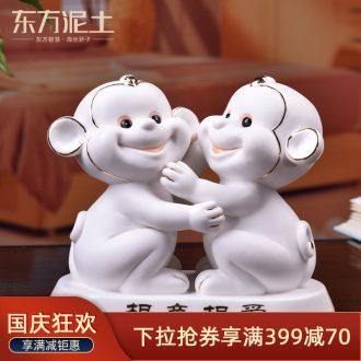 Oriental soil creative ceramic wedding gifts to the bride girlfriends wife JiLian desktop decoration furnishing articles, gifts