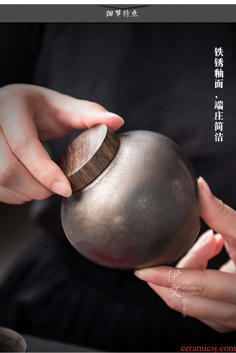 Even sealing ceramic tea pot put POTS with hand made ceramic pot and receives small portable storage tanks