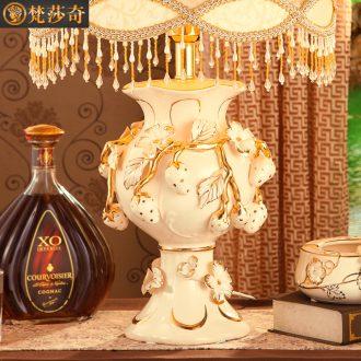 Brahman Sally 's European ceramic desk lamp key-2 luxury large restoring ancient ways is the sitting room the bedroom berth lamp example room a wedding gift